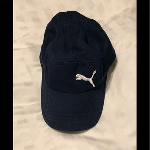 Puma Dry-Cell Mesh Adjustable Hat. Navy.